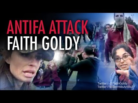 Media stands with Antifa in violent attack on Faith Goldy