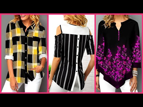 floral-check-printed-daily-work-wear-tops-and-blouses-outfit-ideas-and-designs-for-girls-and-women