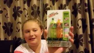 mountain dew lip balm in a bottle unpacking and review