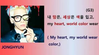 Shinee - Married to the music Lyrics Video for Korean learners