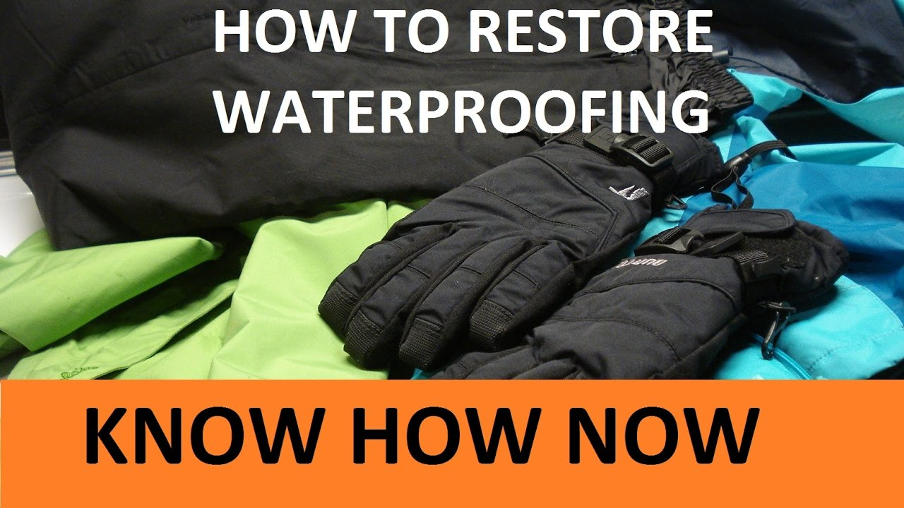How to Fix Water Repellent Clothing That Leaks DWR Clothing Care