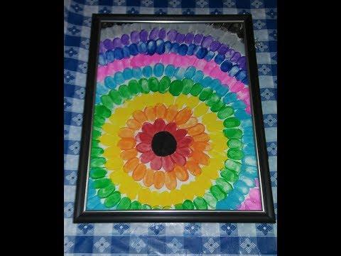 EASY THUMBPRINT FLOWER WALL ART