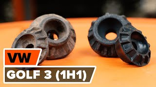 Watch the video guide on VW GOLF III (1H1) Brake Drum replacement