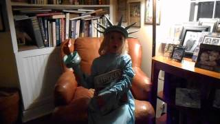 Tessa reciting The New Colossus by Emma Lazarus The Statue of Liberty