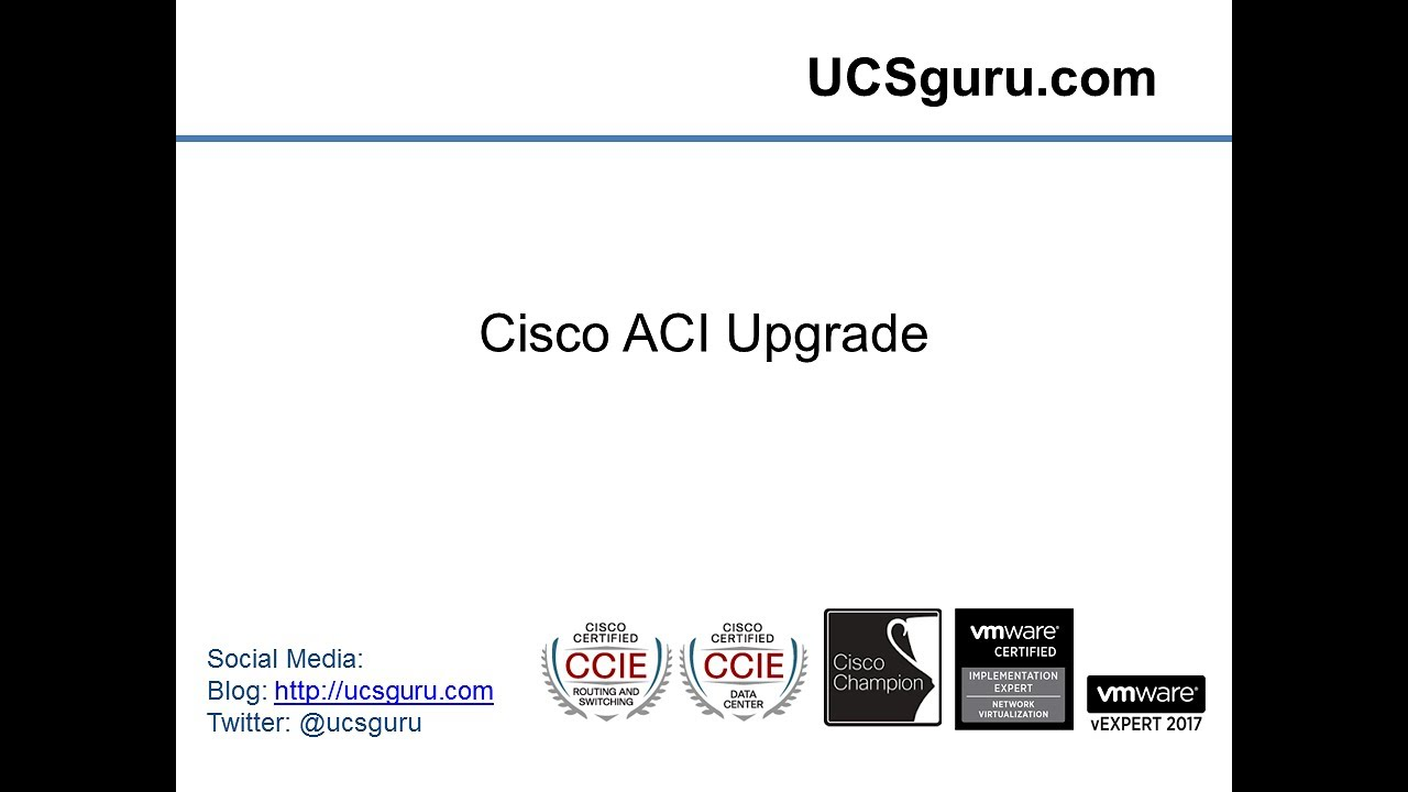 Cisco Aci Upgrade Youtube