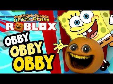 SPONGEBOB HOVERBOARD! - Obby Obby Obby!! [Annoying Orange]