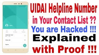 Why UIDAI Number is Being Saved Automatically in Your Contact List ??  Explained With Proof!!!
