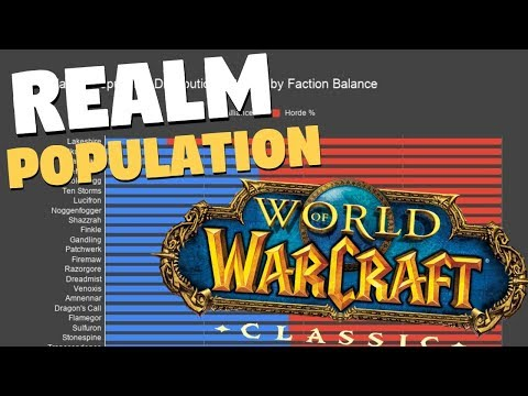 Classic WoW Realm Population Report | World Of Warcraft Classic