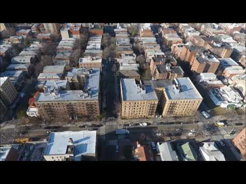 NYC03 - Drone View of Borough Park, Brooklyn NY  December 2016