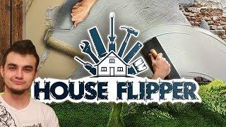 """HOUSE FLIPPER #2 """"Murarz, tynkarz, akrobata"""" Malowanie i rozwalanie ścian ️! :D"""