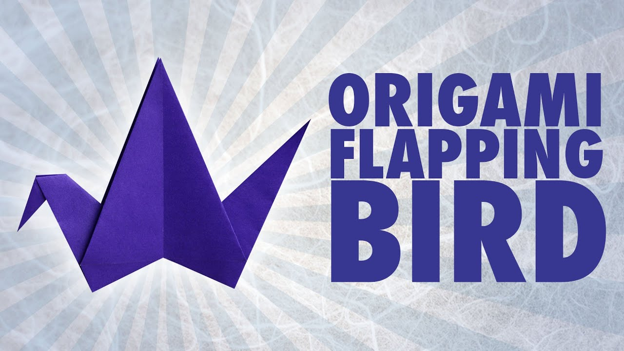 origami flapping bird