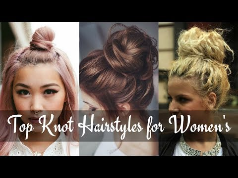 Latest Trendy Top Knot Hairstyles 2018 – Half Up Top Knot