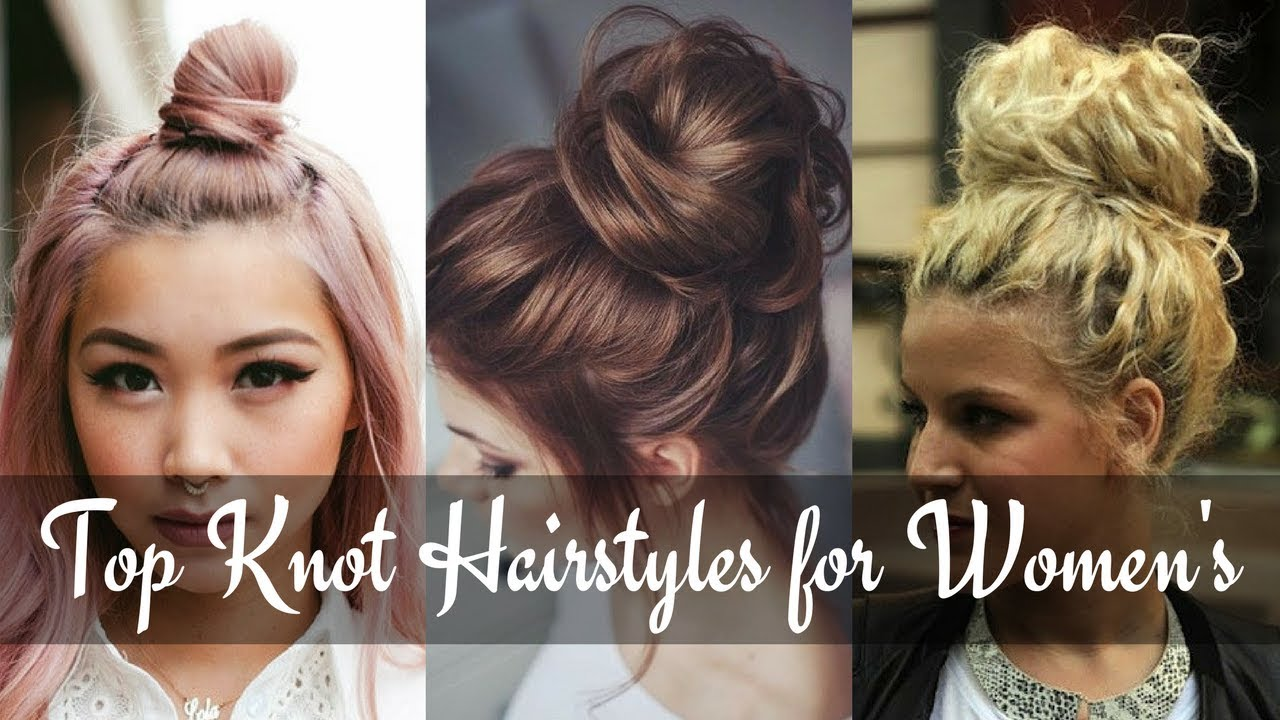 Latest Trendy Top Knot Hairstyles 2018 Half Up Top Knot Youtube