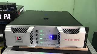 Cục đẩy 4 kênh công suất khủng 1600W/1 kênh 8omh , đánh 4 cái full đôi coil 100 ok khoẻ , 0938884126