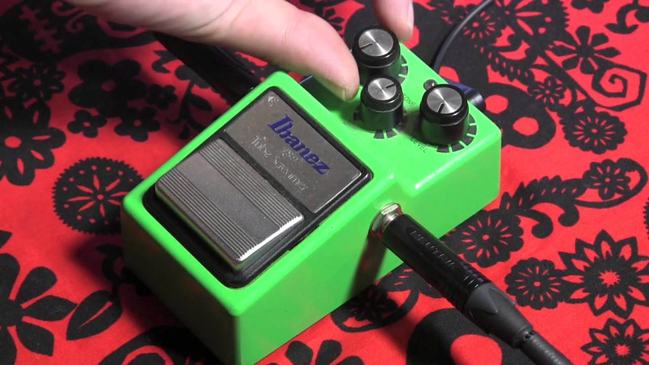 Ibanez Ts9 Tubescreamer Pushing A Dirty Marshall Amp With