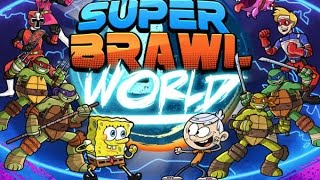 Super Brawl World-kid danger vs bob esponja