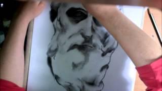 How I draw - Charcoal study