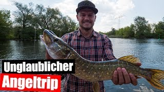 Angeln auf Hecht - Hechtangeln in Brandenburg 🐟 Angel Vlog