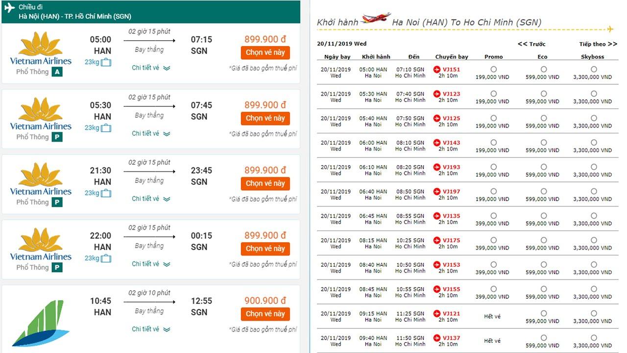 [ VÉ MÁY BAY ] SIÊU RẺ THÁNG 11 Của Các Hãng Vietnam Airlines * Jetstar Vietjet Air * Bamboo Airways