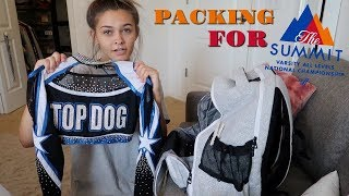 PACKING FOR SUMMIT! MY LAST CHEER COMPETITION!