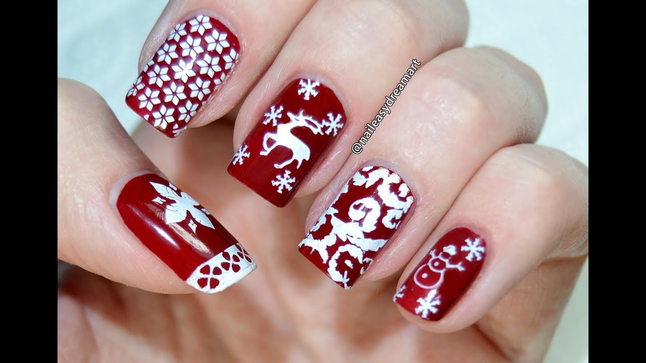Born Pretty Review Christmas Stamping Nail Art Tutorial You