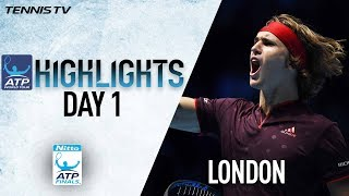 Highlights: Federer, Zverev Off To Winning Starts at Nitto ATP Finals 2017