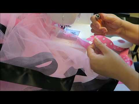 HOW TO USE LESS RIBBON MAKING A RIBBON TRIM TUTU