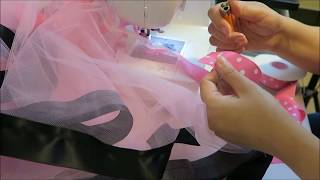 How I make a ribbon trim tutu with less ribbon Tutorial