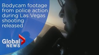 Bodycam footage from police action during Las Vegas shooting released
