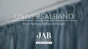 Vorhang mit Universalband richtig aufhängen I JAB ANSTOETZ Onlineshop