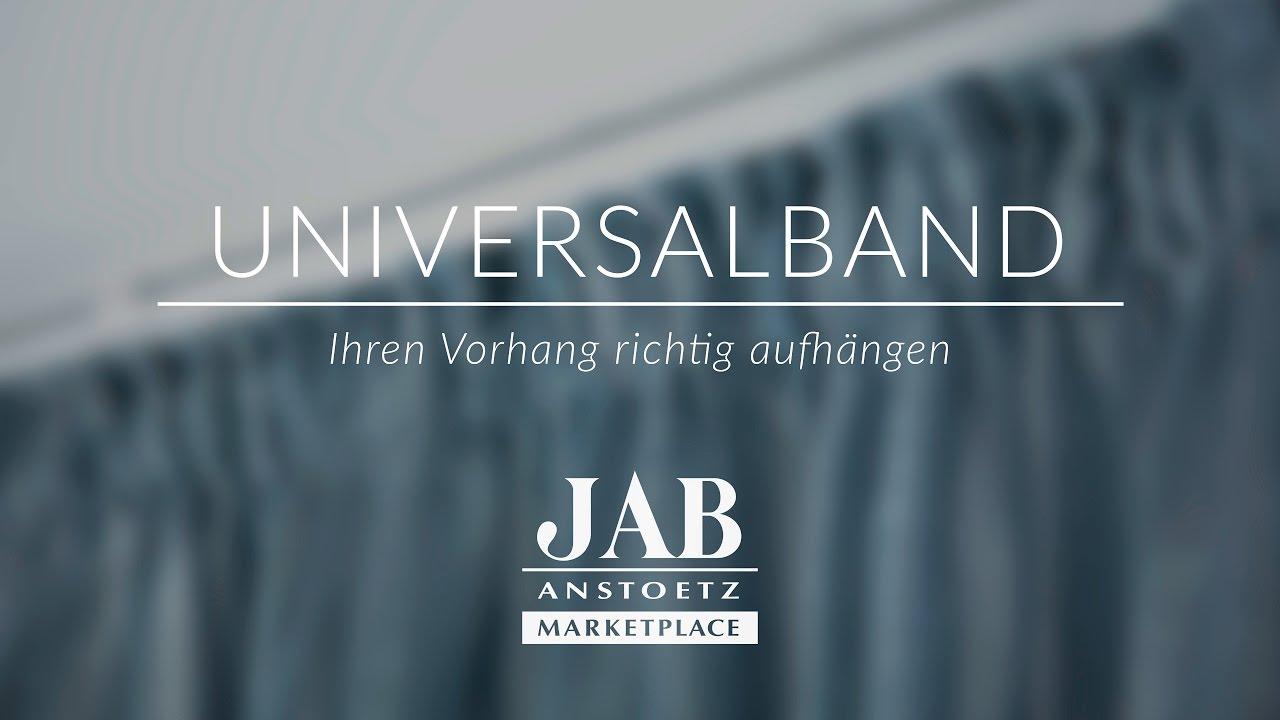 Vorhang mit Universalband richtig aufhängen   JAB ANSTOETZ