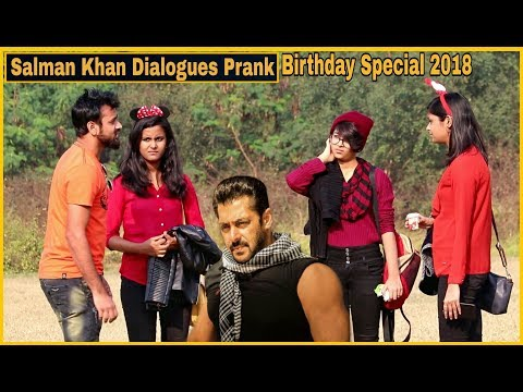 Salman Khan Dialogue Prank On Girl's - 53rd Birthday Special - Pranks In India| By TCI
