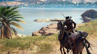 ASSASSIN'S CREED ORIGINS - Mostrando o Gameplay no PS4 Pro! (Português PT-BR)