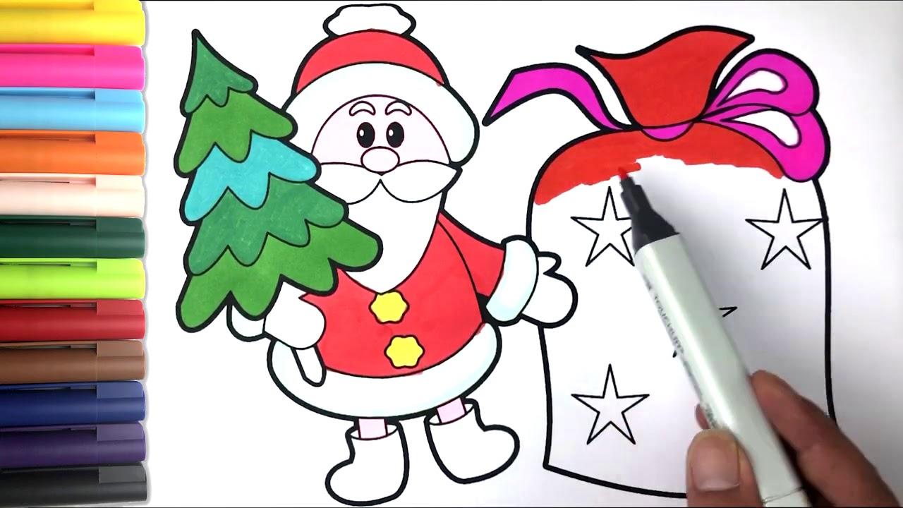 Noel Baba Cizimi Ve Cocuklar Icin Boyama Youtube