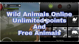 WILD ANIMALS ONLINE || How to get free POINTS and any locked ANIMALS without mod || Normal Server