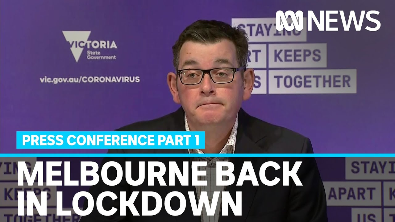 Melbourne To Go Back Into Full Lockdown As State Records Highest Coronavirus Daily Cases Abc News Youtube