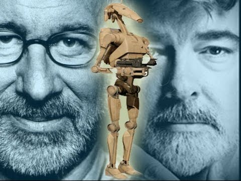 George Lucas Introduces A Battle Droid To Steven Spielberg For The First Time