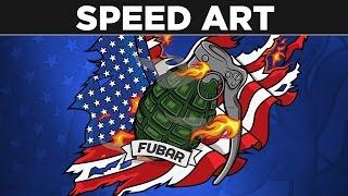 """FUBAR"" Logo  Time-Lapse by BTR Designs"