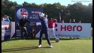 Francesco Molinari golf swing Driver/Long Iron, Sky Sports British Masters, October 2018.