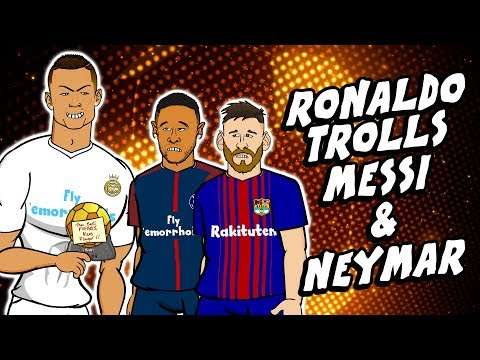 😲RONALDO trolls MESSI & NEYMAR😲 (The Best 2017)