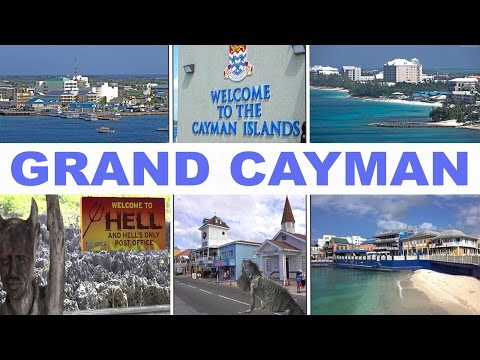 GRAND CAYMAN - GEORGE TOWN, HELL, TURTLE FARM...  2017 4K