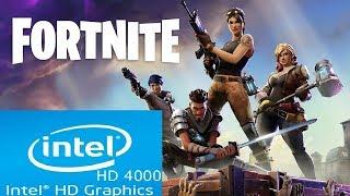 Fortnite | Intel HD 4000 | Core i3 | Low Spec PC |