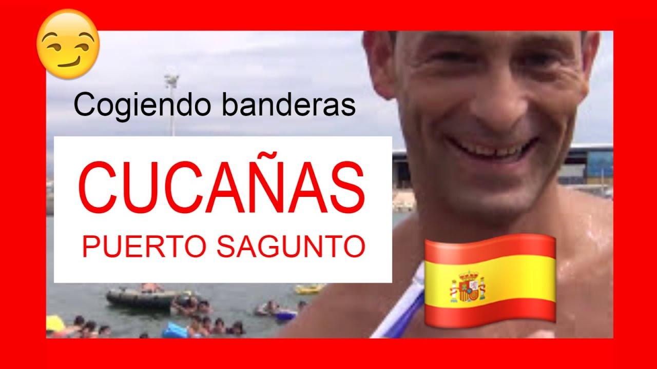 Cogida de Banderas - Cucañas Maritimas Fiestas Puerto Sagunto 2015