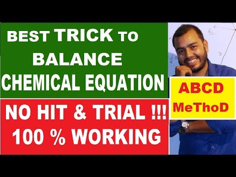 How To BALANCE Any Chemical Equation - ABCD Method | Best Way To Balance Chemical Equation