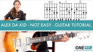 "How to Play ""Not Easy"" by Alex Da Kid Guitar/Fingerpicking Tutorial"