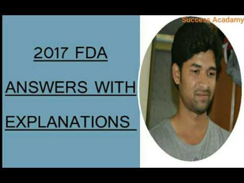 FDA 2017 part -1 (Kpsc) Answers with Explanation by vishwas