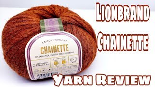Yarn Review - Lionbrand Chainette Yarn from the L.B. Collection | Bag-O-Day Crochet Video