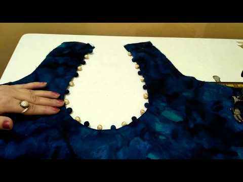 Perfect round neck cutting & stitching//Potli neck design