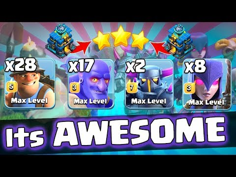 28 Max Miner 17 Max Bowler 8 Max Witch New Ground Army 3 Star Th12 Max Level | New Th12 War Style