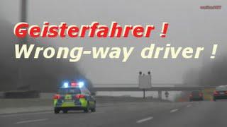 LIVE SWR3 Falschfahrer Geisterfahrer Polizeieinsatz A8 Stuttgart! Wrong-way driver! Autobahn Nebel